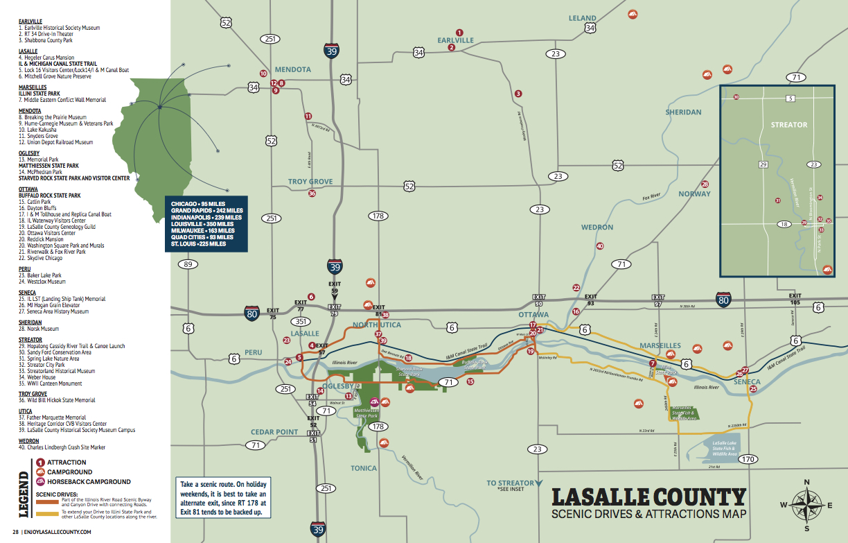 LaSalle County Map